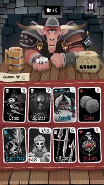 Strategize with the right hand in Card Crawl, a challenging dungeon crawler card game hybrid