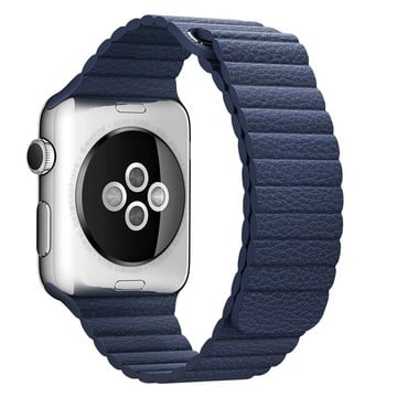 The Best Non-Apple Blue The Best Replica Leather Loop Apple Watch Band